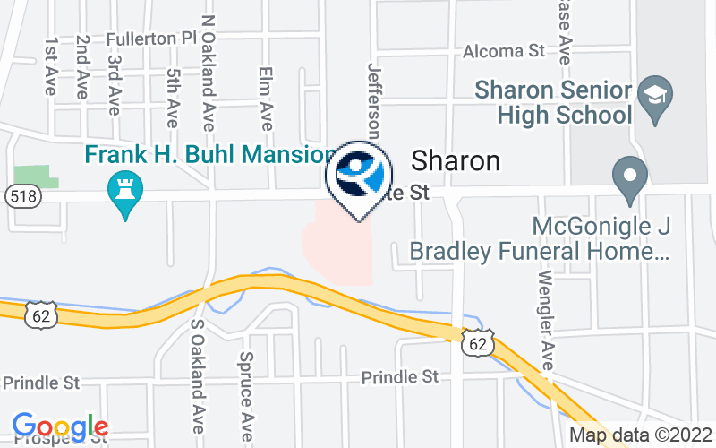 Sharon Regional Health Systems - Behavioral Health Services Location and Directions