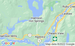 Map of Harrison Springs Camping & RV Park