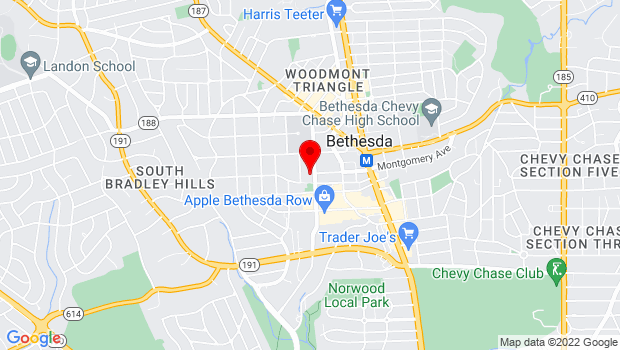 Google Map of 7400 Arlington Road Bethesda, MD 20814