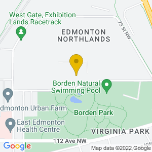 Map to Edmonton Exhibition Lands ( Formerly Northlands Park) provided by Google