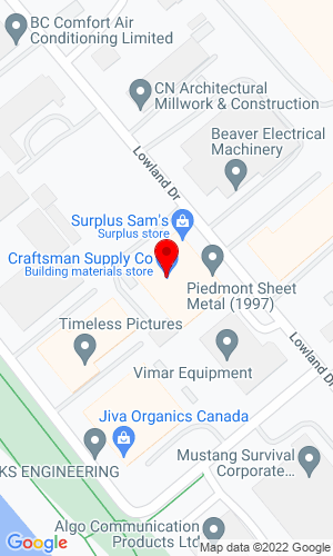 Google Map of Fraser Park Machinery 7435 Lowland Drive, Burnaby, BC, V5J 5A8