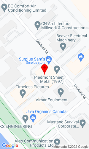 Google Map of Fraser Park Machinery 7435 Lowland Drive, Burnaby, British Columbia, Canada, V5J 5A8
