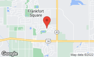 Map of 7438 West Hickory Creek Drive FRANKFORT, IL 60423