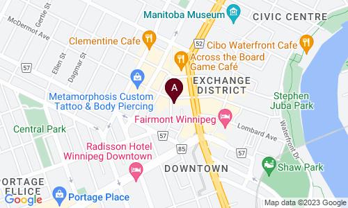 map of Exchange Community Church