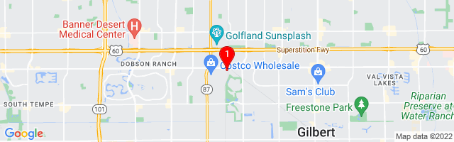 Google Map of 75 W Baseline Rd Suite 19-20 Gilbert, AZ 85233