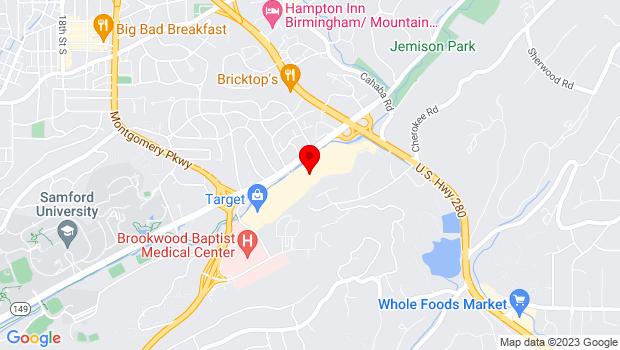 Google Map of 752 Brookwood Village, Homewood, AL 35209