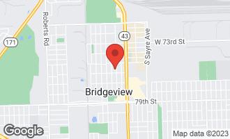 Map of 7534 South Octavia Avenue Bridgeview, IL 60455