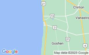Map of Paul Bunyan Lake Front Resort