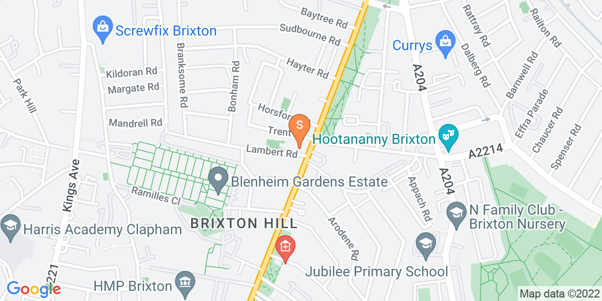 Google Map of 76 Brixton Hill London SW2 1QW