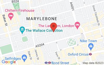 Map of Marylebone, LONDON
