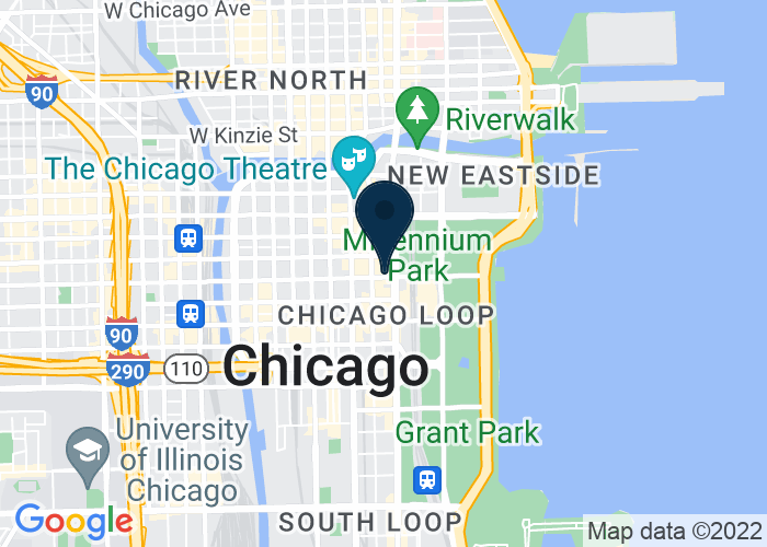 Map of 76 E. Monroe Street, Chicago, IL 60603, United States