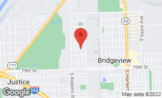 Map of 7606 South 78th Court BRIDGEVIEW, IL 60455