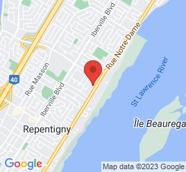 Google Map of 761++Notre-Dame%2CRepentigny%2CQuebec+J5Y+1B4