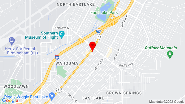 Google Map of 7611 1st Ave N, Birmingham, AL 35206