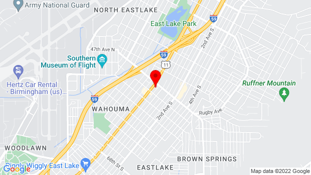 Google Map of 7623 1st Ave. N, Birmingham, AL 35206