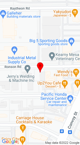 Google Map of Clairemont Equipment  7651 Ronson Road (Sales/Service), San Diego, CA, 92111