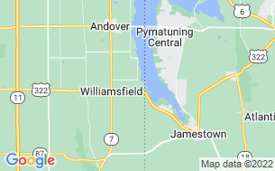 Map of Andover/Pymatuning KOA