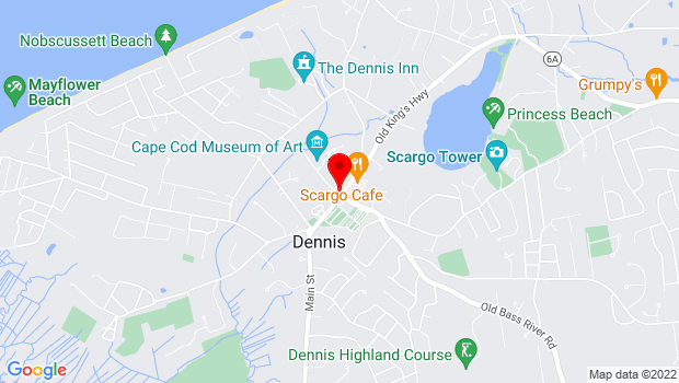 Google Map of 766 Route 6A, Dennis, MA 02638