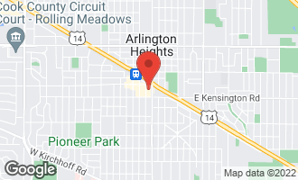 Map of 77 South Evergreen Avenue #408 ARLINGTON HEIGHTS, IL 60005