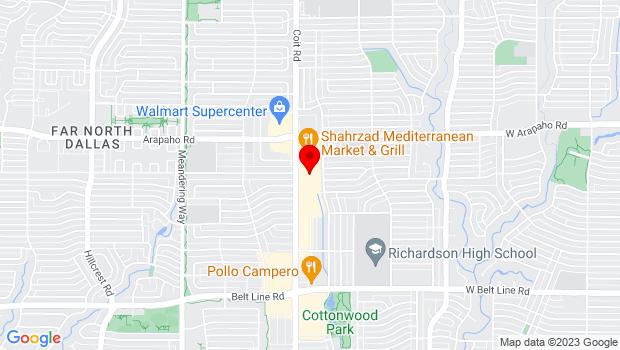 Google Map of 770 N Coit, Richardson, TX 75080