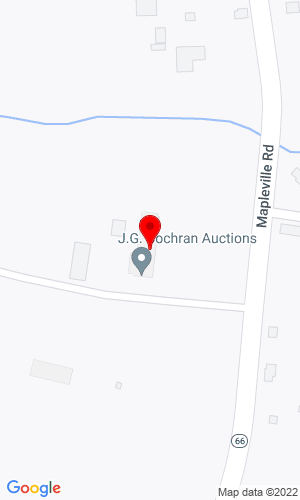 Google Map of Cochran Auctioneers 7704 Mapleville Road, Boonsboro, MD, 21713