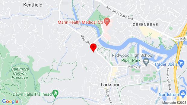 Google Map of 771 Magnolia, Larkspur, CA 94939