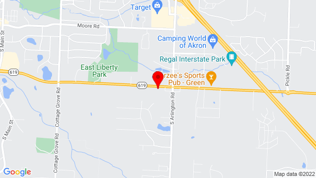 Google Map of 772 E. Turkeyfoot Lake Rd., Akron, OH 44319