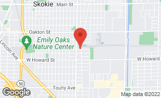 Map of 7734 East Prairie Road SKOKIE, IL 60076