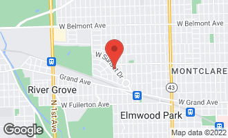 Map of 7739 West Sunset Drive ELMWOOD PARK, IL 60707