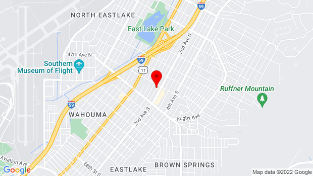Google Map of 7753 1st Avenue South, Birmingham, AL 35206