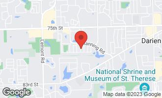 Map of 7769 Danbury Drive DARIEN, IL 60561