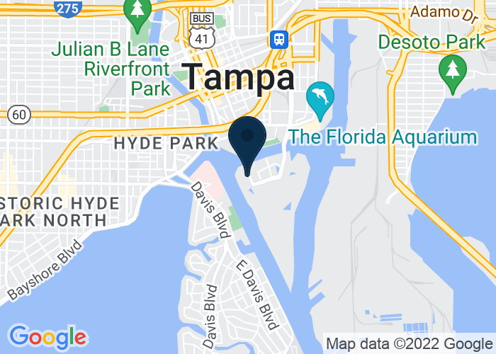 Map of 777 South Harbour Island Boulevard, Suite 750, Tampa, FL 33602, United States