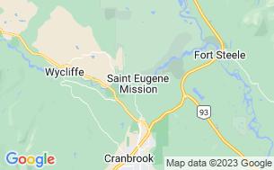Map of St. Eugene RV Park (KOA)