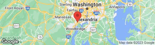 Map of 7787 GRACE CHURCH LANE LORTON, VA 22079