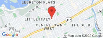 Google Map of 779+Gladstone+Avenue%2COttawa%2COntario+K1R+6X6