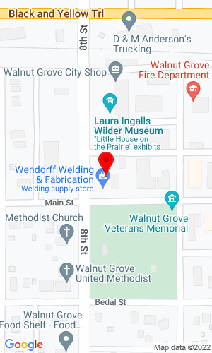 Google Map of Wendorff Welding & Fabrication 780 Main Street, Walnut Grove, MN, 56180