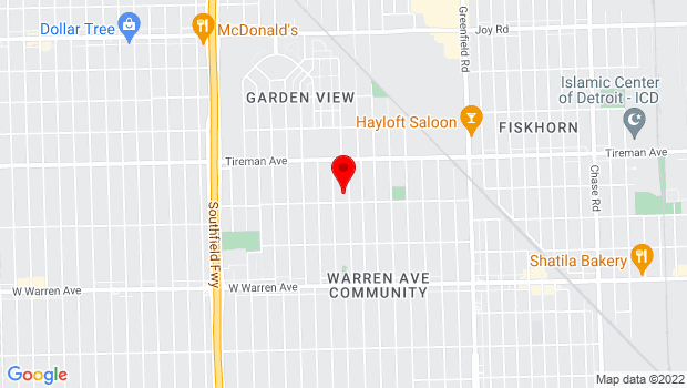 Google Map of 7800 Woodmont Ave