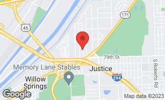 Map of 7800 Blazer Avenue JUSTICE, IL 60458