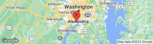 Map of 7804 ELBA ROAD ALEXANDRIA, VA 22306