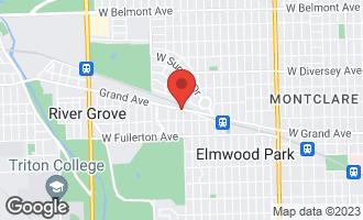 Map of 7805 West Grand Avenue ELMWOOD PARK, IL 60707