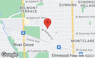 Map of 7810 West Elmgrove Drive Elmwood Park, IL 60707