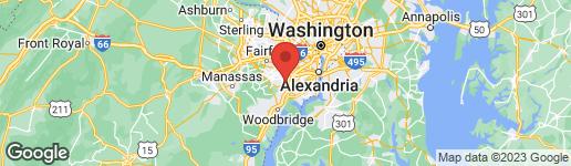 Map of 7813 WINTERCRESS LANE SPRINGFIELD, VA 22152