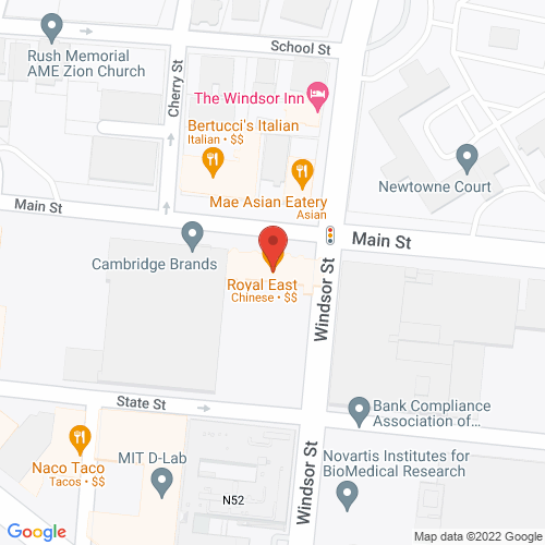 Map of the area around Royal East Restaurant