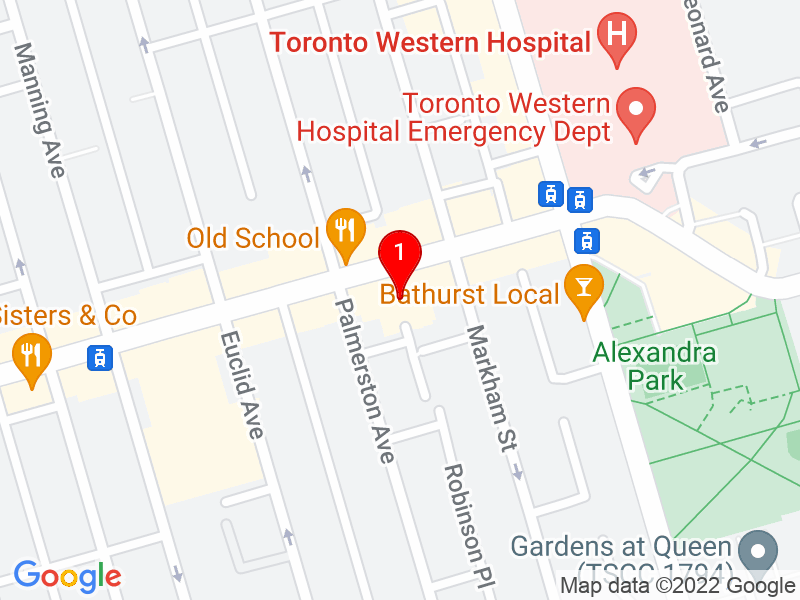 Google Map of 793 Dundas St West, Toronto, ON
