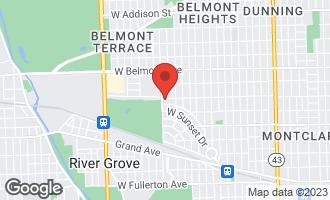 Map of 7939 West Wellington Avenue ELMWOOD PARK, IL 60707
