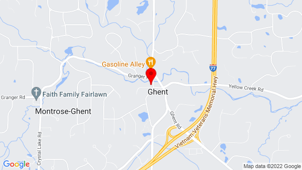 Google Map of 794 Wye Road, Fairlawn, OH 44333
