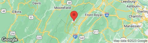 Map of 7943 SUPINLICK RIDGE ROAD BASYE, VA 22810