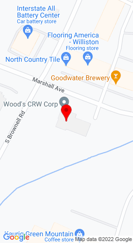 Google Map of Wood's CRW Corp. 795 Marhsall Avenue+Williston +VT+05495