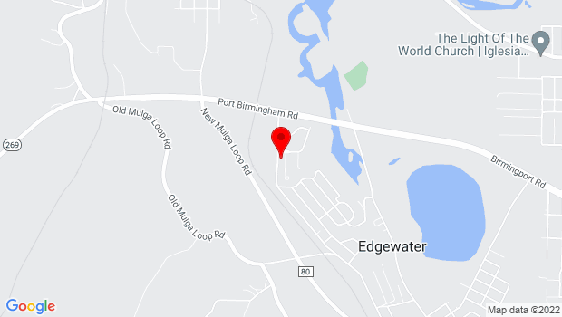 Google Map of 796 Lannie Bonner Circle, Birmingham, AL 35224