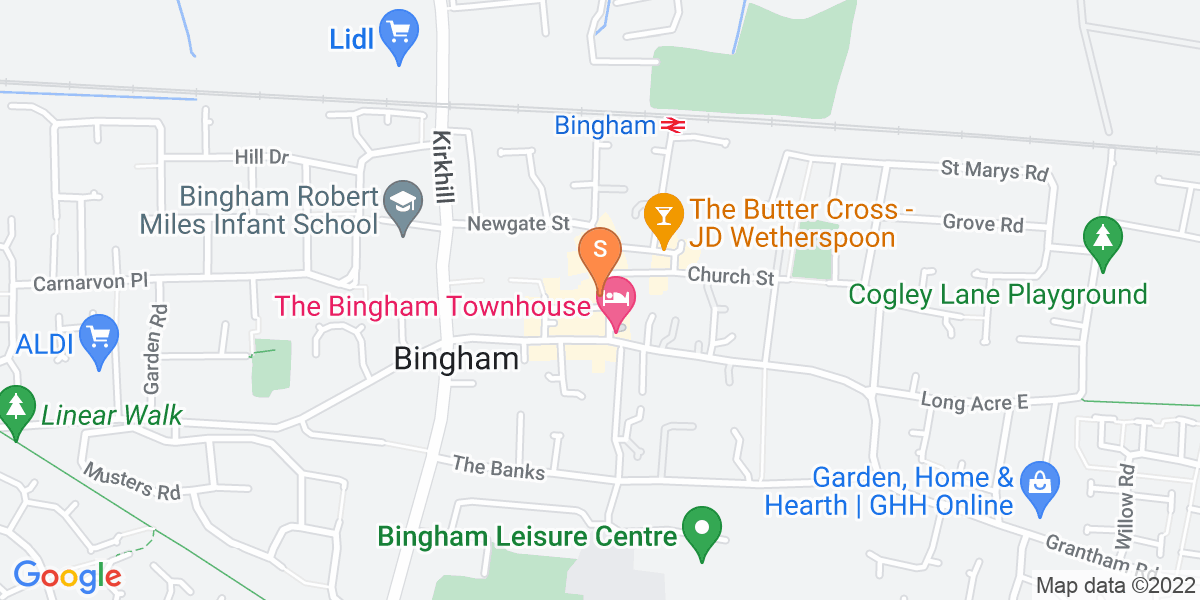 Google Map of 8 Market StreetBingham Nottingham NG13 8AB